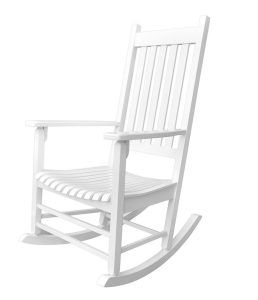 Shine Company Vermont Porch Rocker, White Best Patio Rocking Chair