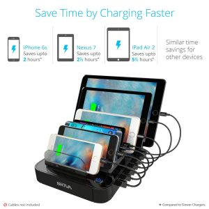 System charger station USB-drive Skiva 84W