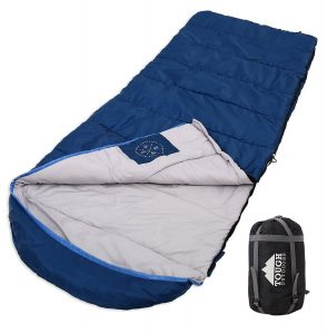 Tough Outdoors All _Season XL Sleeping Bag, Hooded design with Compression Sack