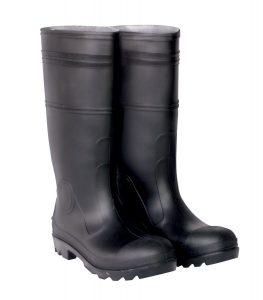 CLC Custom Leathercraft, the Sock Black PVC Men's Rain Boot