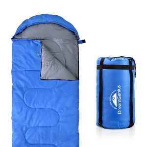 DreamGenius Sleeping Bag, with Compression Sack for four- Season Camping