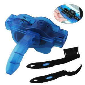 KKtick Bike Chain Cleaning Tool with Rotating Brushes Bicycle Maintenance Clean Accessories Set