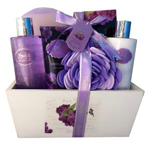 Spa Basket with Lavender Fragrance, Lilac color by Lovestee