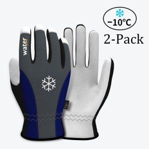 Vgo Glove Goatskin Leather Waterproof Winter Gloves