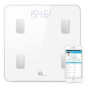 1byone Bluetooth Body Fat Scale with IOS and Android App