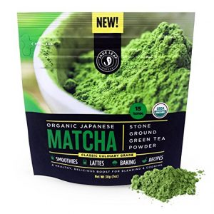Beshowere Doormat green tea smoothie blended beverage with whipped cream matcha powder and spoon