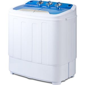 Merax Portable Mini Compact Twin Tub Washing Machine and Washer Spin Cycle