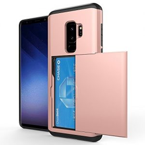 Samsung Galaxy S9/S9 Plus Slim Wallet Back Case Impact Resistant Hybrid Protective Shell