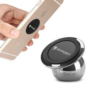 FITFORT Universal Magnetic Phone Holder 360°Rotation Magnetic Car Mount Holder for iPhone 6/6s