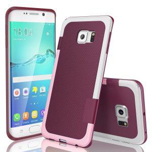 TILL(TM) Ultra Slim 3 Color Hybrid Impact Anti-slip Shockproof Galaxy S6 Edge Case