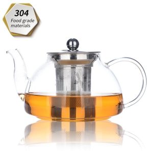 Siyanuo Heat Resistant Glass Teapot with Removable Infuser