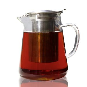 Zenco Glass Teapot Pitcher with Stainless Steel Infuser set