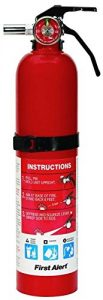 Family Guard First Alert 2.5 Pound Rechargeable Fire Extinguisher