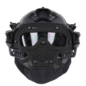 HYOUT Fast Tactical Helmet Combined with Full Mask and Goggles