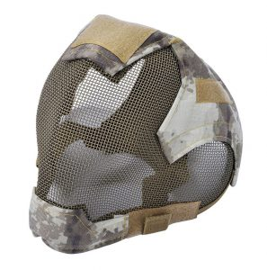 Coxeer Airsoft Mask Full Face Mask War Game Steel Mesh Protective Mask