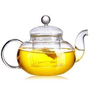 Beylor Clear Glass Teapot Heat Resistant Teapots