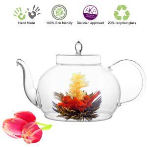 Tea Beyond Large Blooming Tea Glass Teapot Polo