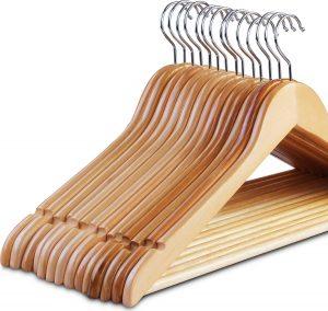 Zoyer New Improved Wood Suit Hangers