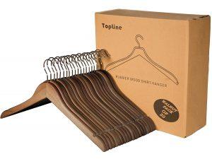 Topline Classic Wood Shirt Hangers