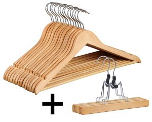 Finnhomy 20 Pack Wooden Hangers