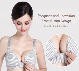 LOVE YANQIWomens Comfy Cotton Nursing & Maternity Sleep Bra