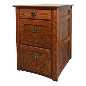 Oak Furniture Shop Authentic Mission Style Solid Oak 3 Drawer Filing Cabinet