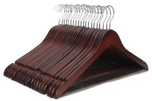 JS HANGER Multifunctional High-Grade Solid Wooden Suit Hangers