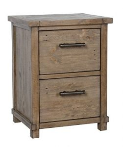 SUPERNOVA WAREHOUSE LLC Rustic Country Traditional Wooden Vertical Filing Cabinet