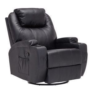 Mecor Massage Recliner Chair Leather Ergonomic Heated Lounge Sofa Swivel