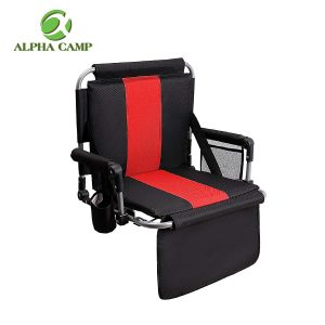 ALPHA CAMP Stadium Seat Chair for Bleachers with Back & Arm Rest