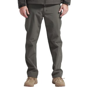 FREE SOLDIER Men's Outdoor Softshell Fleece Lined Cargo Pants Snow Ski Hiking Pants