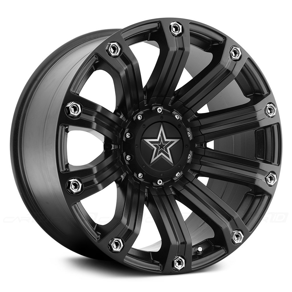 ATX Series Satin Black Wheel Center Hub Cap 6 Lug 6x5.5 6x139 for AX200