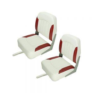 Seamander Premium Low Back Fold-Down Boat Seats