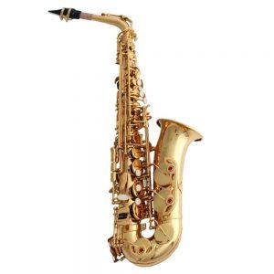 ZHXUANXUAN Brass Material Electrophoretic Gold Craft Saxophone