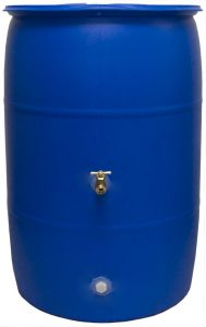 Good Ideas RB55-BLUE Big Blue Recycled Rain Barrel