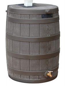 Good Ideas RW50-OAK Rain Wizard Rain Barrel 50 Gallon