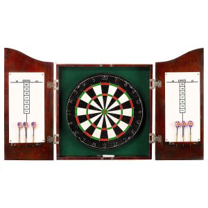 Hathaway Centerpoint Solid Wood Cherry Finish Dartboard