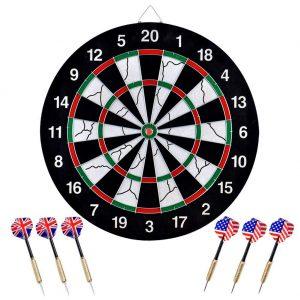 wuudi 18'' Flocking Double-Sided Dart Board