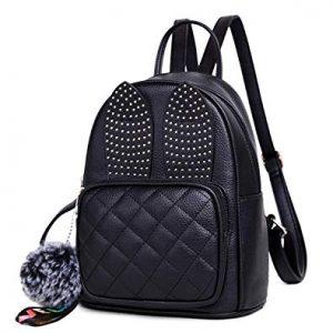 XB HANDBAG Girl Rabbit Earring Cute mini leather backpack