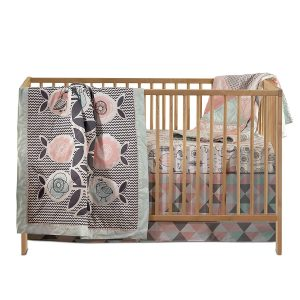 Lolli Living 4-Piece Baby Bedding Crib Set with Sparrow Pattern. Complete Set