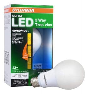 SYLVANIA ULTRA 3-WAY LED light bulb