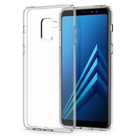 Spigen Liquid Crystal Designed for Samsung Galaxy A8 Plus Case (2020) - Crystal Clear