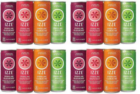 IZZE Sparkling Juice, 4 Flavor Variety
