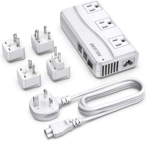 BESTEK Travel Adapter with UK Plug Universal 100-220V
