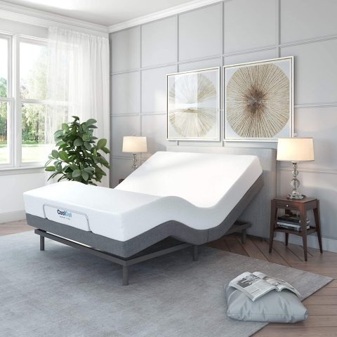 Classic Brands Adjustable Comfort Upholstered Adjustable Bed