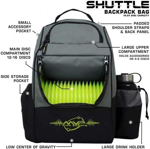 MVP Disc Sports Backpack Shuttle Disc Golf