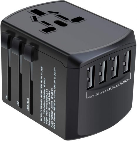 Universal Plug Adapter for Worldwide Travel