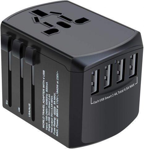 Universal Plug Adapter for Worldwide Travel
