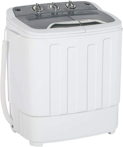 Twin Tub Mini Portable Clothes Washing Machine with Timer Control