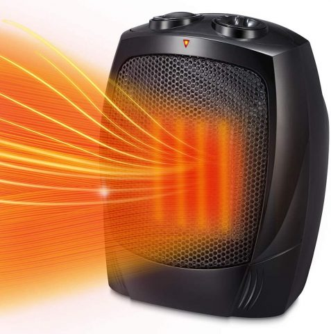 Kismile Small Space Heater Electric Portable Heater Fan